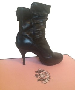 Juicy Couture Leather Bootie Chic Black Boots