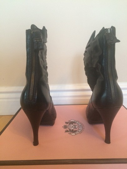 Juicy Couture Leather Chic Black Boots