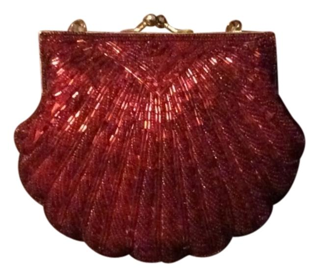Item - Red Beaded/Sequined Clutch