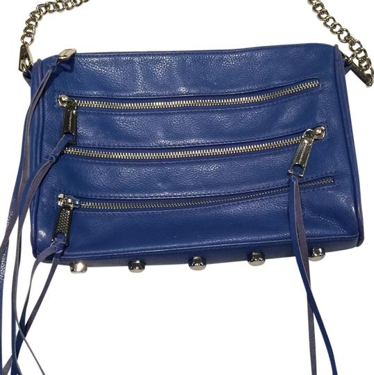 Rebecca Minkoff Studded Leather Cobalt Cross Body Bag