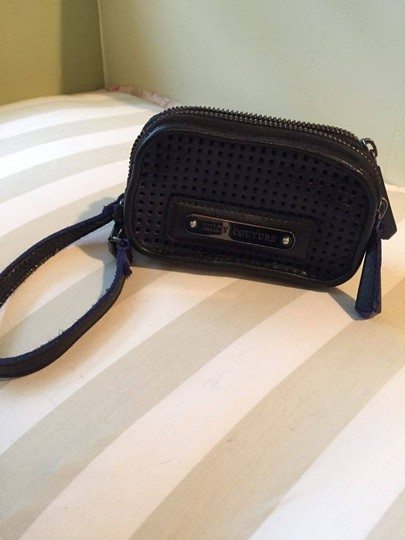 Juicy Couture Purse Leather Purse Leather Wristlet in black