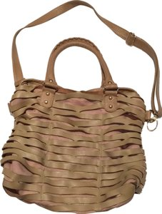 Romygold Designer Romy Leather Tote in Beige