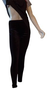 Hue Velvet Soft Casual black Leggings