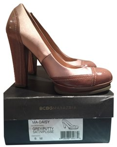 BCBGMAXAZRIA Grey & Brown Platforms