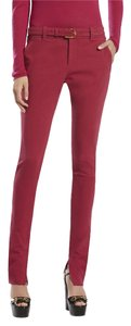 Gucci Straight Pants Cherry With Bamboo Belt