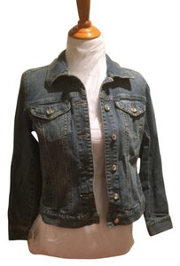 Style & Co Blue Jean Womens Jean Jacket