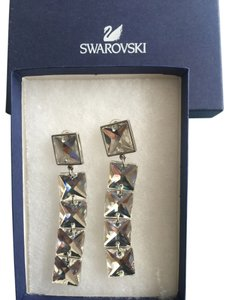 Swarovski Stunning Swarovski Beveled Drop Earrings