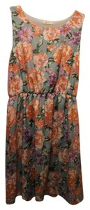 Everly short dress Blue Floral on Tradesy