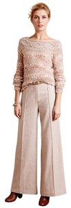 Anthropologie Wide Leg Pants tan/gold tint