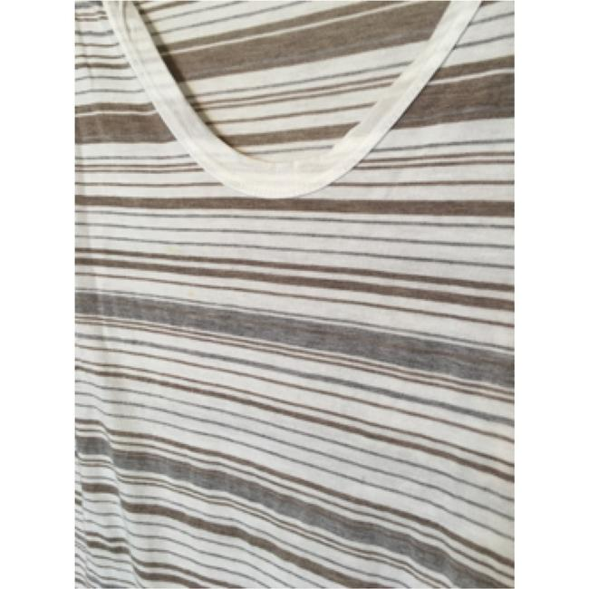 James Perse T Shirt White/tan/gray