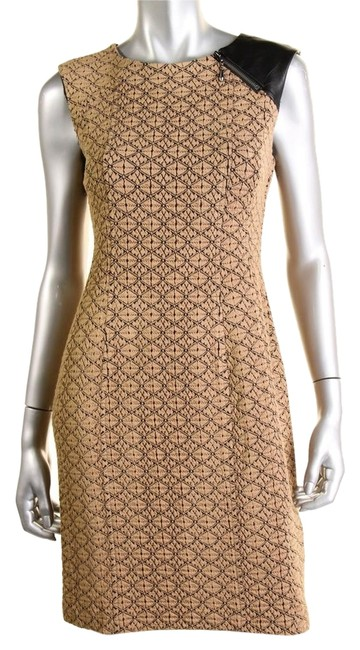 Preload https://item3.tradesy.com/images/nanette-lepore-tan-black-wear-to-above-knee-workoffice-dress-size-2-xs-10405477-0-1.jpg?width=400&height=650