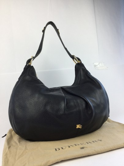 Burberry Leather Large Hobo Bag