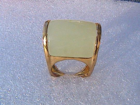Other Gold Washed Sterling Silver Jade Ring