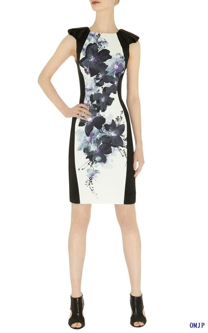Karen Millen Oriental Print Elegant Design Dress