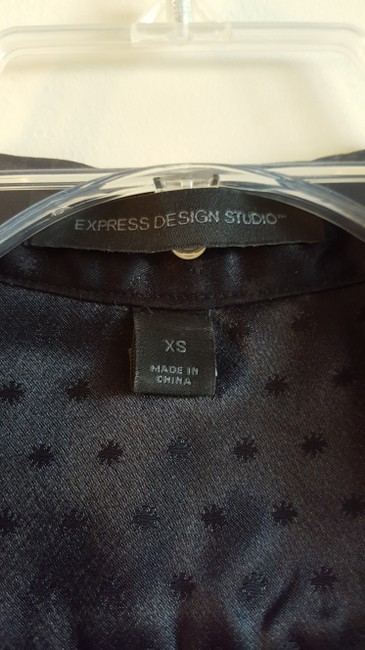 Express Shimmery Wrap-a-round Sexy Top Black