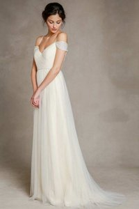 Jenny Yoo Cream Tulle Mia Vintage Wedding Dress Size 2 (XS)