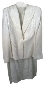 Versace Versace Couture Ivory Silk Embroidered Suit