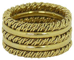 Tiffany & Co. Tiffany and Co. Wide Gold Band, Vintage Jewelry, Gold, Jewelry