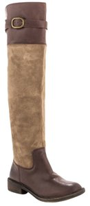 Lucky Brand Nivo Suede Lucky Harness Knee Brindle/Tobacco Boots