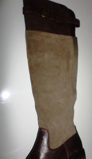 Lucky Brand Nivo Suede Brindle/Tobacco Harness Knee 8.5 Brindle/Tobacco Boots