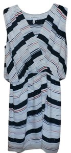 BCBGeneration short dress White with Blue and Orange Stripes on Tradesy