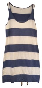 Minnie Rose short dress Blue and white stripe on Tradesy