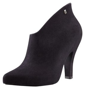 Melissa Waterproof Suede Black Flocked Boots