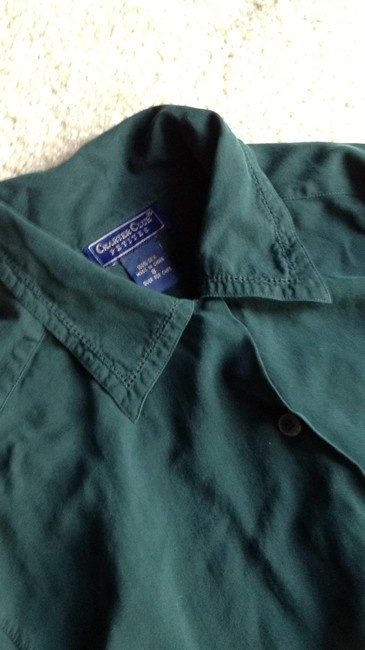 Charter Club Button Down Shirt hunter green
