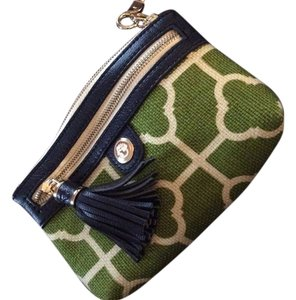 Spartina 449 Wristlet in Green, cream, navy