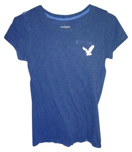 American Eagle Outfitters Graphic Tee Frocket T Shirt Navy