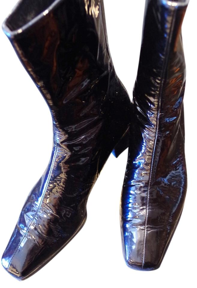 Stuart Weitzman Black Patent Leather Boots/Booties Leather Boots/Booties Leather a3920e