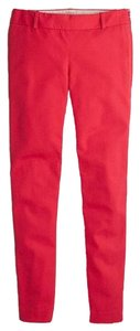 J.Crew Red Ankle Cropped Wear To Work Trouser Pants California Poppy