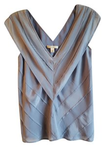 Banana Republic Silk Pleats Top Periwinkle