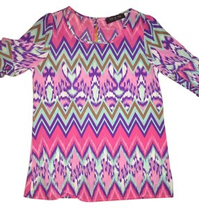 Francesca's Top pink/purple/teal
