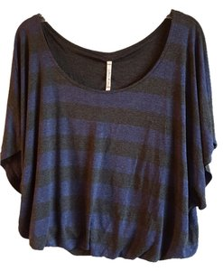Willow & Clay Top Slate Grey/Blue Stripes