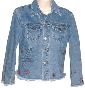 Calvin Klein Vintage Embroidered Womens Jean Jacket