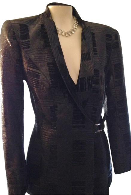 Thierry Mugler Jacket French Tuxedo Formal black Blazer