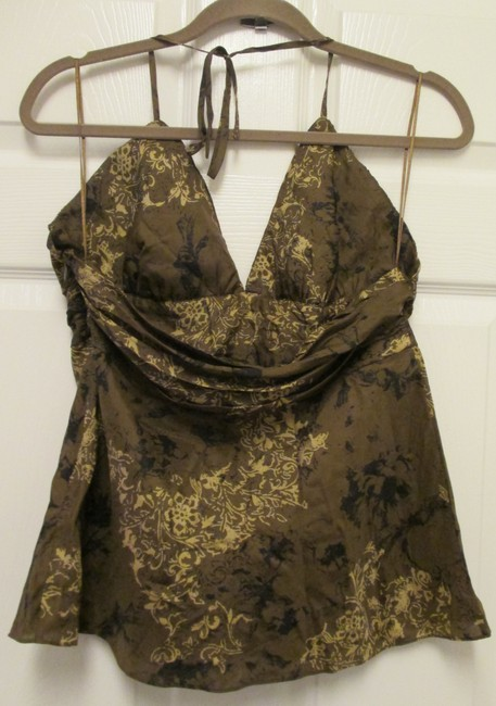 Express Large Oriential Sexy Night Out Top Brown