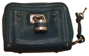 Chloé Teal Leather Wallet