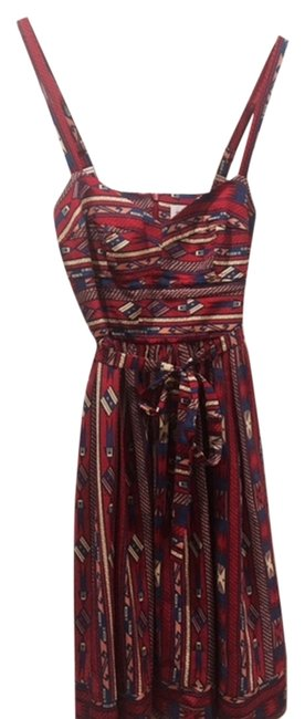 Preload https://item4.tradesy.com/images/amanda-uprichard-red-with-print-empire-above-knee-cocktail-dress-size-0-xs-10411588-0-1.jpg?width=400&height=650