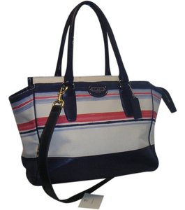Coach Multi Color Culti-color Culticolor Satchel in Navy / Pink / White / Light Blue