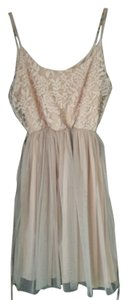 Zara short dress Beige pink on Tradesy
