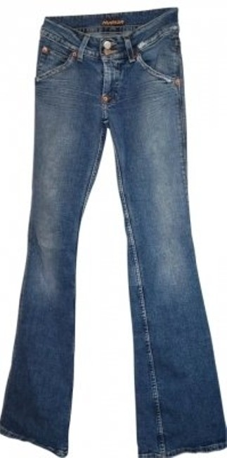 Item - Light Blue with Sand Wash By 'hudson'. Style: 170sd Boot Cut Jeans Size 25 (2, XS)