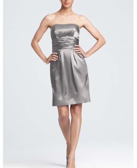 Item - Grey Charmeuse 83707 Modern Bridesmaid/Mob Dress Size 2 (XS)