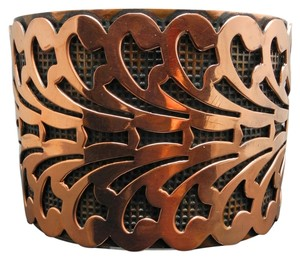 Vintage - 50's-60's Vintage Copper Cuff Bracelet - Cut Out Leaf Pattern
