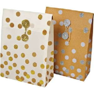 Silver/Gold 24 Designer Gift Bags Wedding Favors