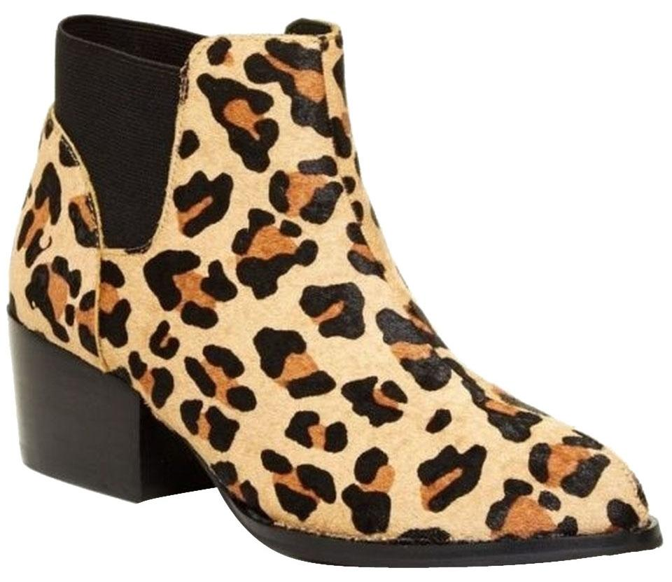 4f3d594bef5 Steve Madden Leopard Print Palace Genuine Dyed Cow Hair Ankle Boots Booties