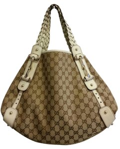 Gucci Canvas Braided Shoulder Bag