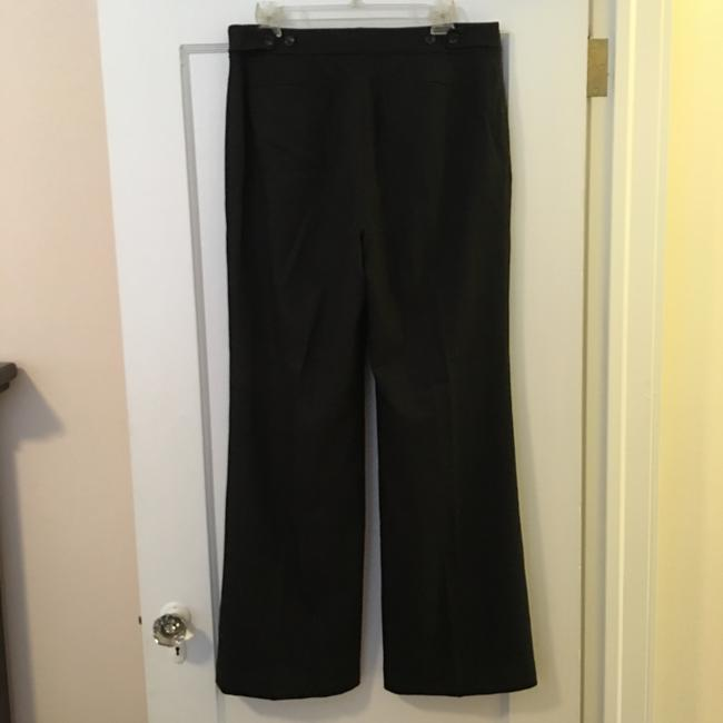 Ann Taylor Wool Straight Pants charcoal gray
