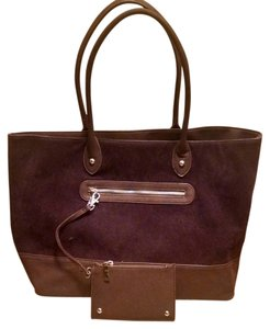 Neiman Marcus Tote in Dark purple/brown